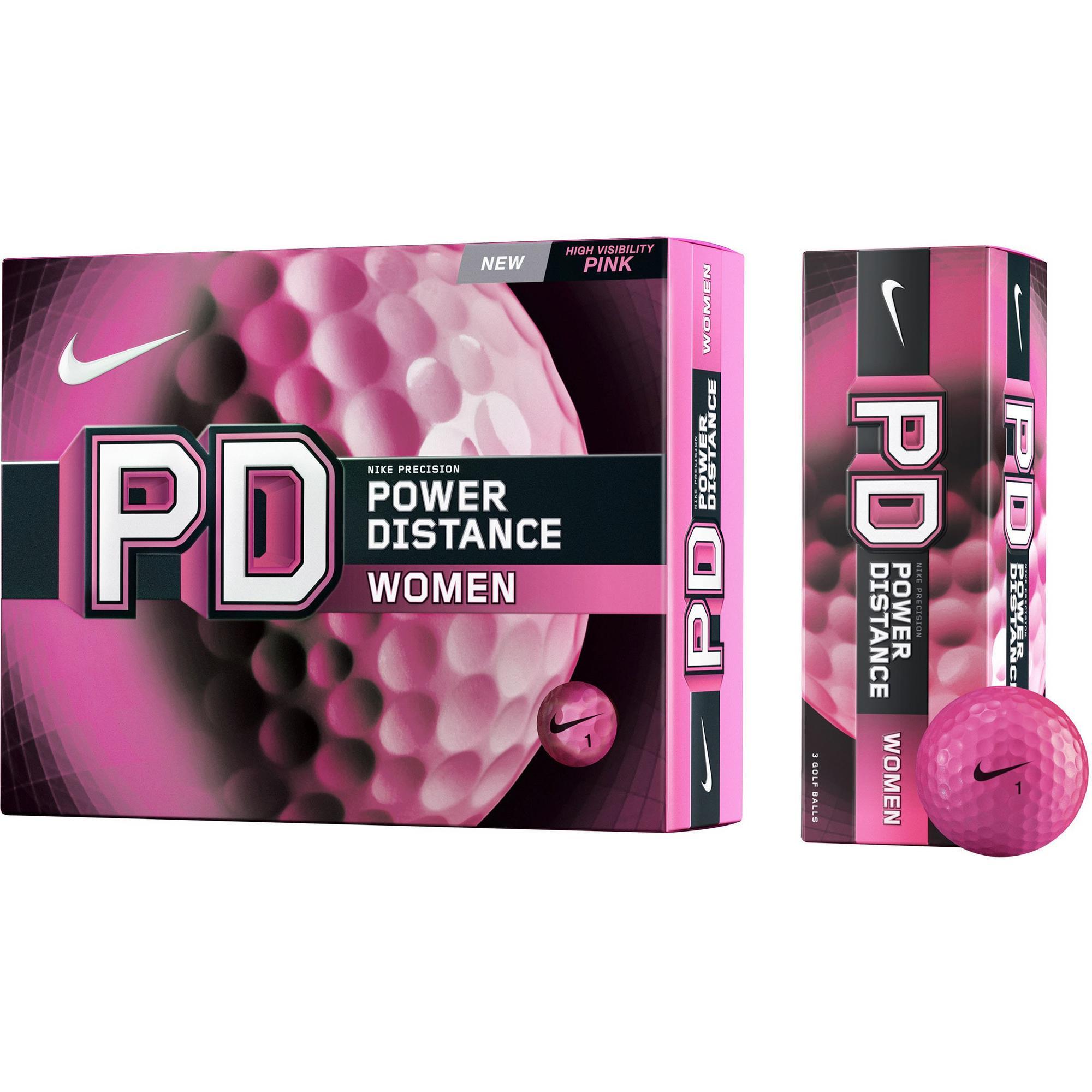 Women's Power Distance Pink Golf Balls