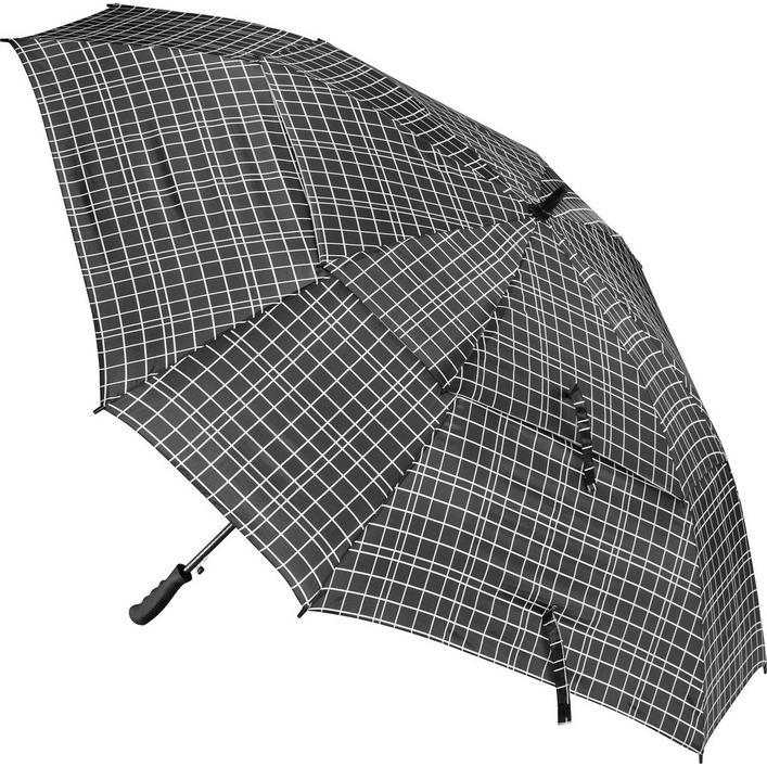 Parapluie Windbuster de 68 po à carreaux noir et blanc