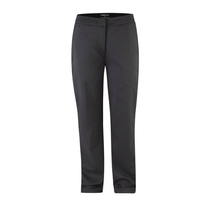 Pantalon tissé à devant plat pour femmes