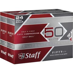 Fifty Elite Double Dozen Golf Balls - White