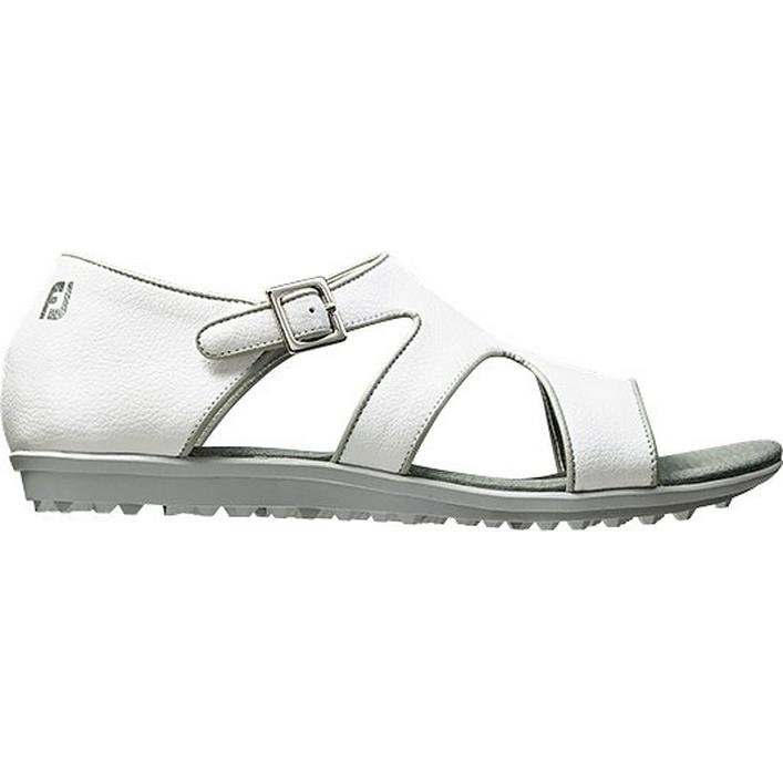 Women's Closeout Naples Collection Spikeless Sandal - White/Black/Brown (FJ# 92351)