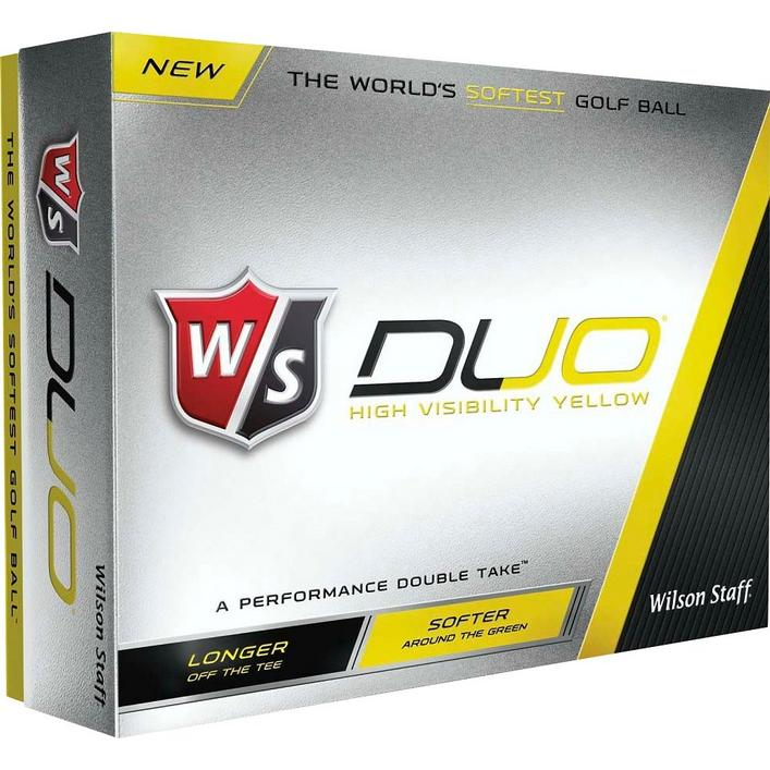 Duo Yellow Golf Balls