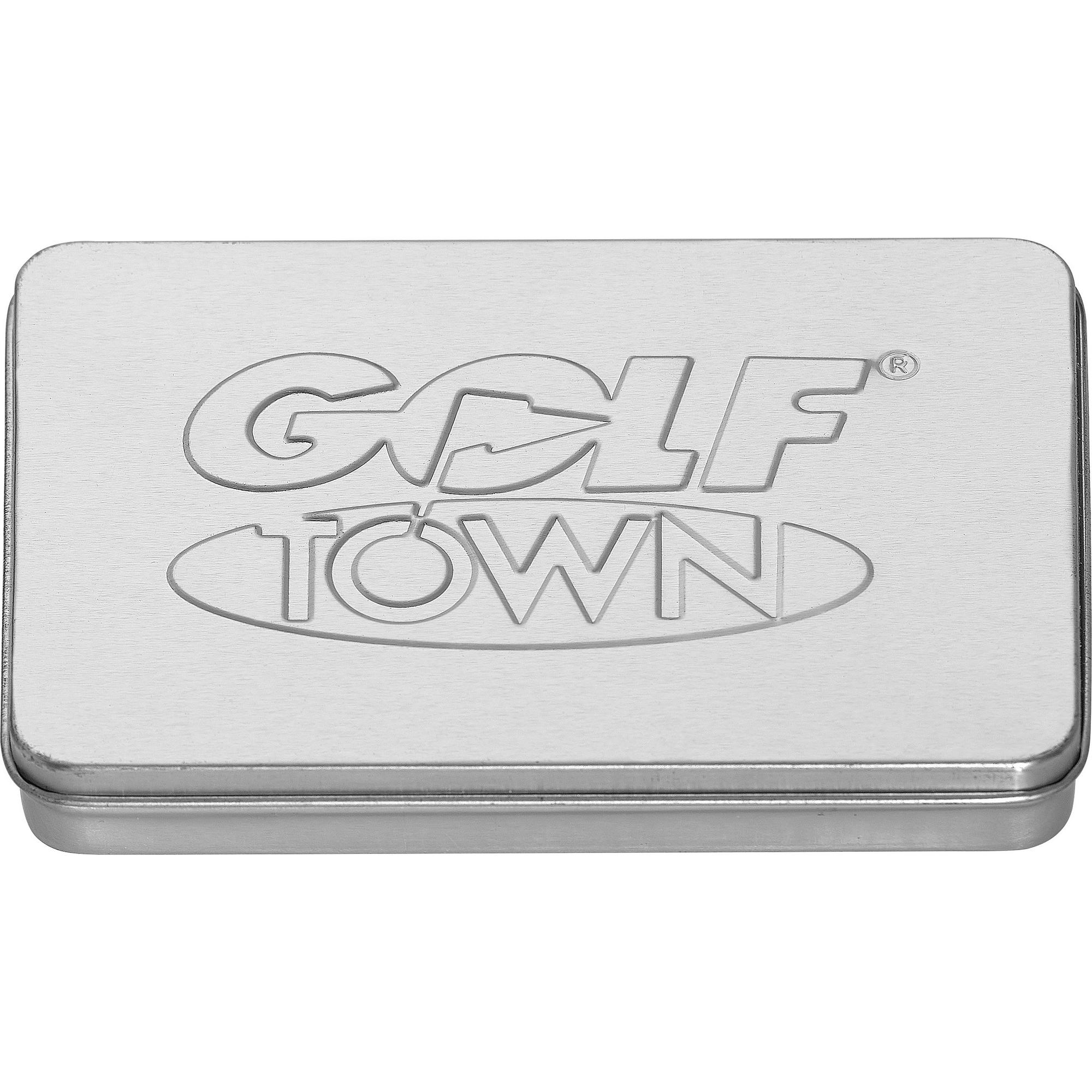 Boîte-cadeau Golf Town en étain