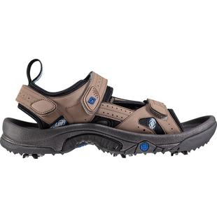 Men's GreenJoys Sandal Spiked Golf Shoes - All Over Dark Taupe