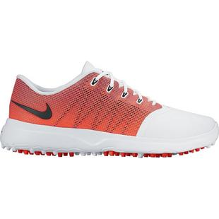 Women's Nike Lunar Empress 2 Spiked Golf Shoes - White/Black/Bright Crimson/Purple