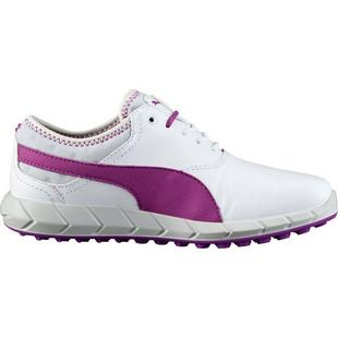 Women's Puma Ignite Spiked Golf Shoes - White/Purple Cactus