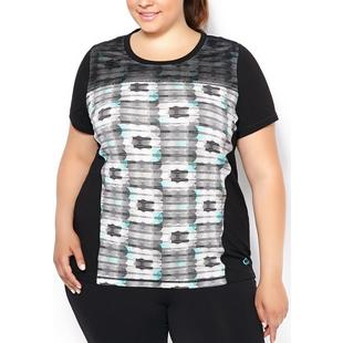 Women's Overlay Printed Mesh Athletic Top