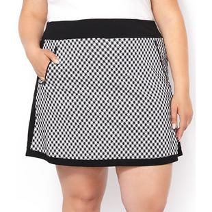 Women's Jersey Knit Check Printed Pull On Skort