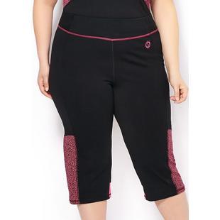 Capri 3/4 Performance en tricot jersey taille plus pour femmes
