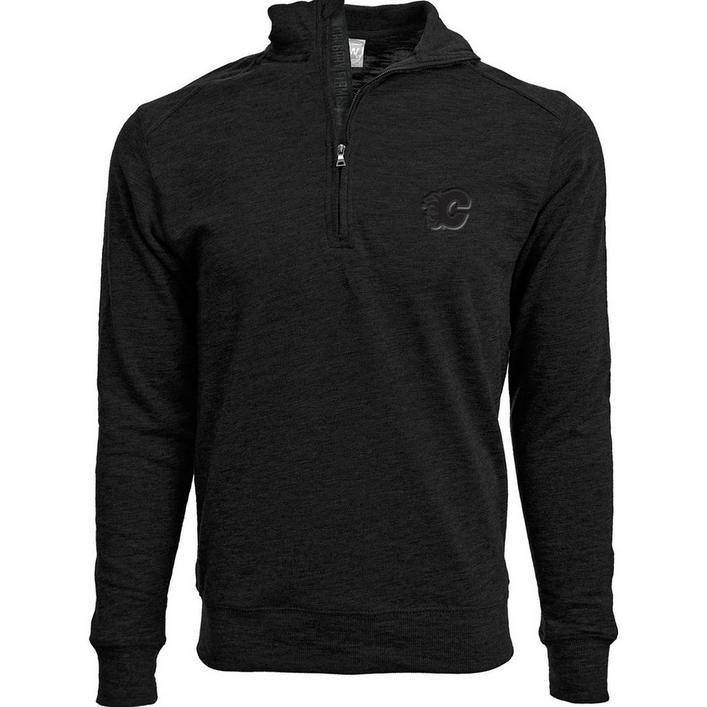 Men's Hudson Show Calgary Flames Quarter-Zip Sweater