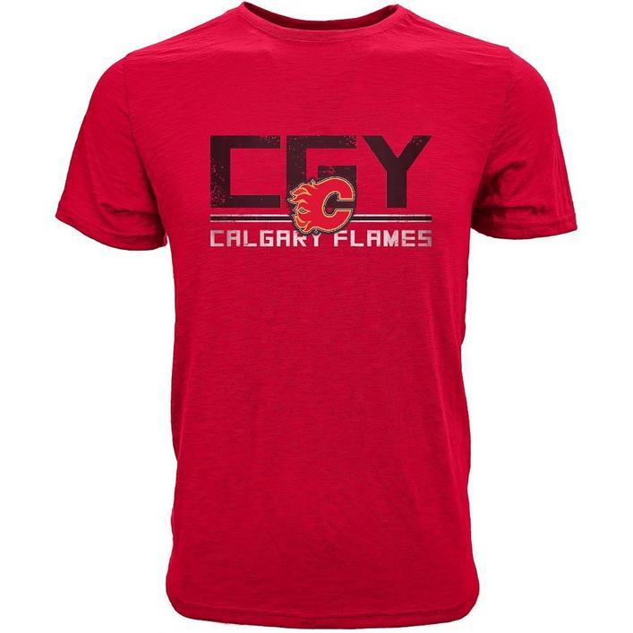 Men's Scoreboard Calgary Flames Short Sleeve T-Shirt