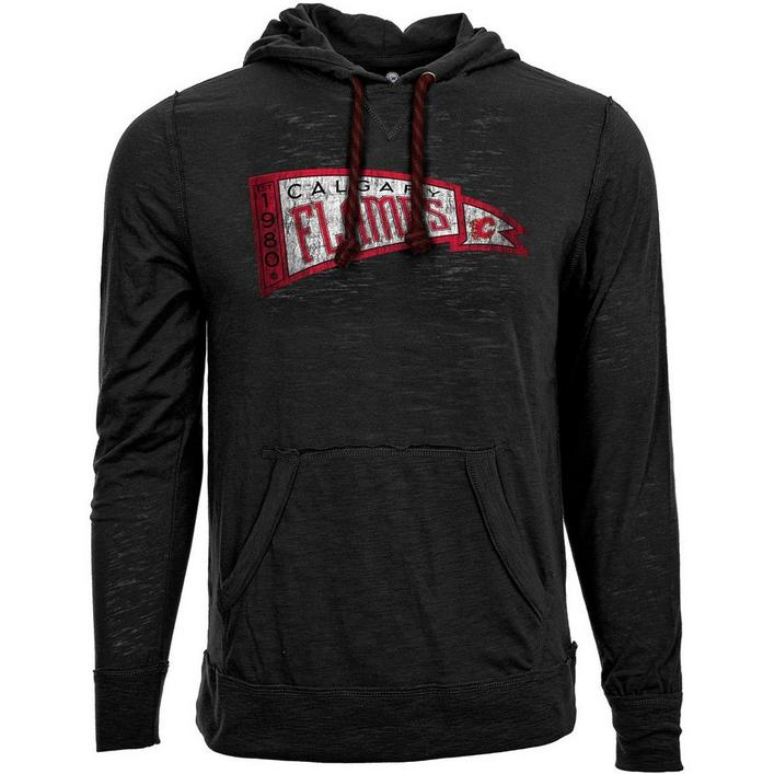 Men's Pennant Hood Calgary Flames Long Sleeve Sweater