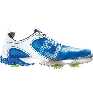 Men's Freestyle Spiked Golf Shoe-White/ Electric Blue (# 57340)