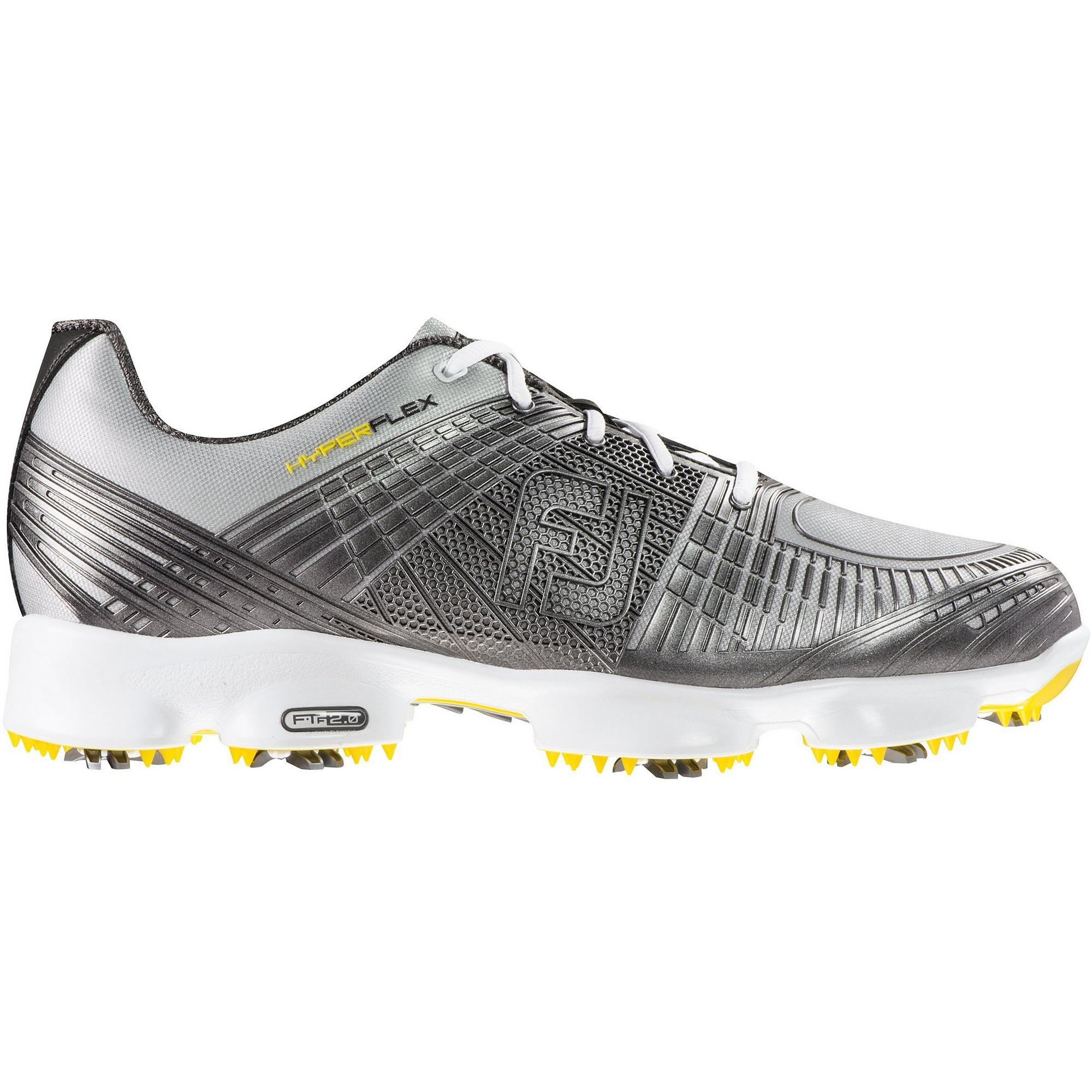 Men's Hyperflex II Spiked Golf Shoe - Silver
