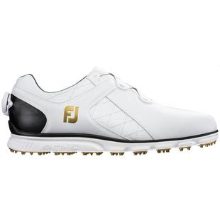 Men's Pro SL BOA Spikeless Golf Shoe-White/Black (#53596)