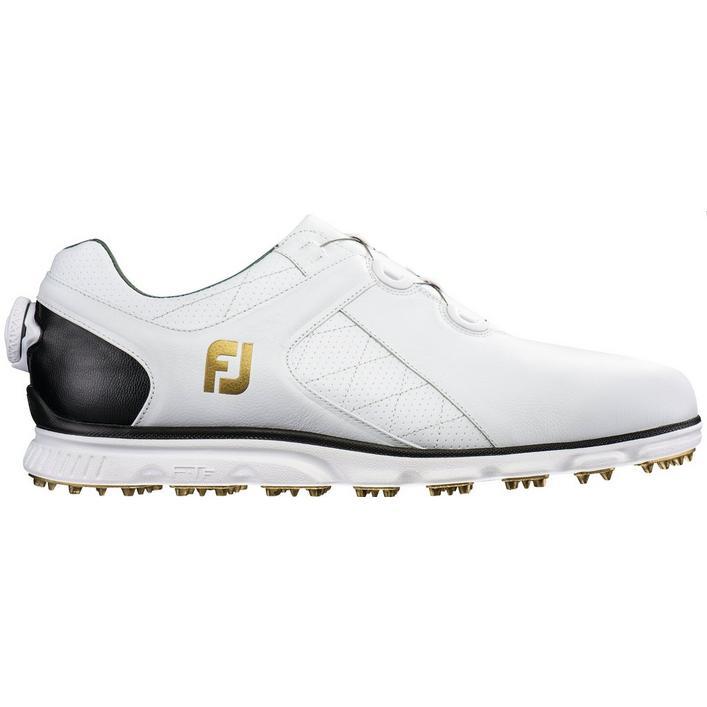 Men's Pro SL BOA Spikeless Golf Shoe-White/Black (#53596)