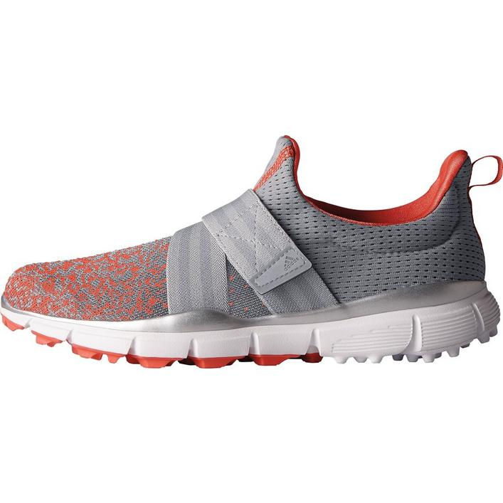 Women's Climacool Knit Spikeless Golf Shoes- Grey/Coral