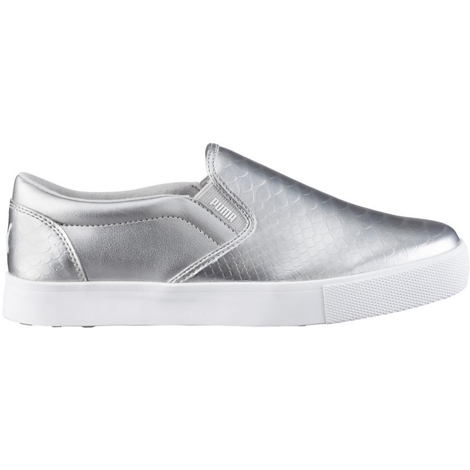 Women's Tustin Slip On Spikeless Golf Shoe- Puma Silver/White