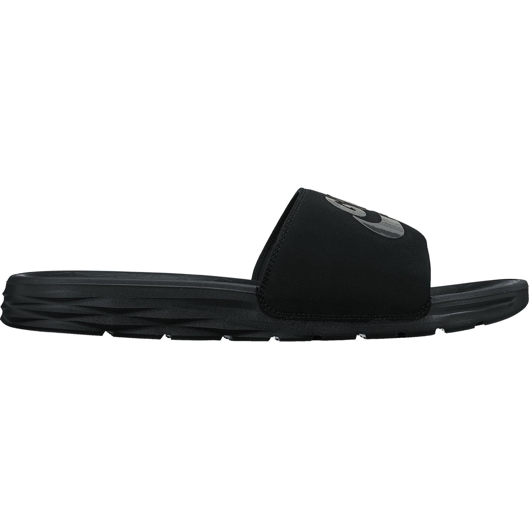 Sandales athlétiques Benassi Solarsoft 2G pour hommes - Noir