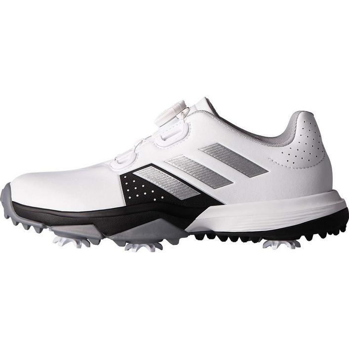 Junior Adipower BOA Spiked Golf Shoe - White/Black