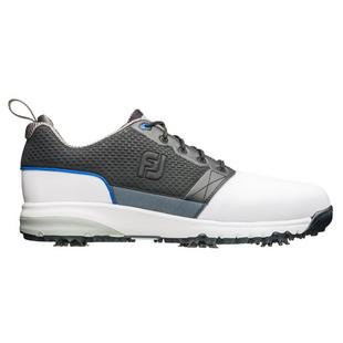 Men's Contour Fit Spiked Golf Shoe-White/Black (FJ# 54097)