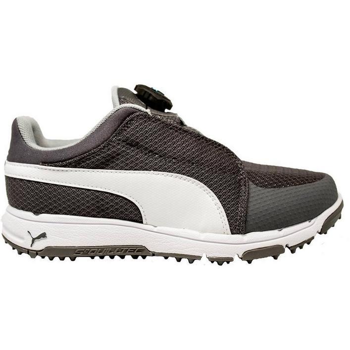 Junior Grip Sport Disc Spikeless Golf Shoe - Gry/Wht/Blu