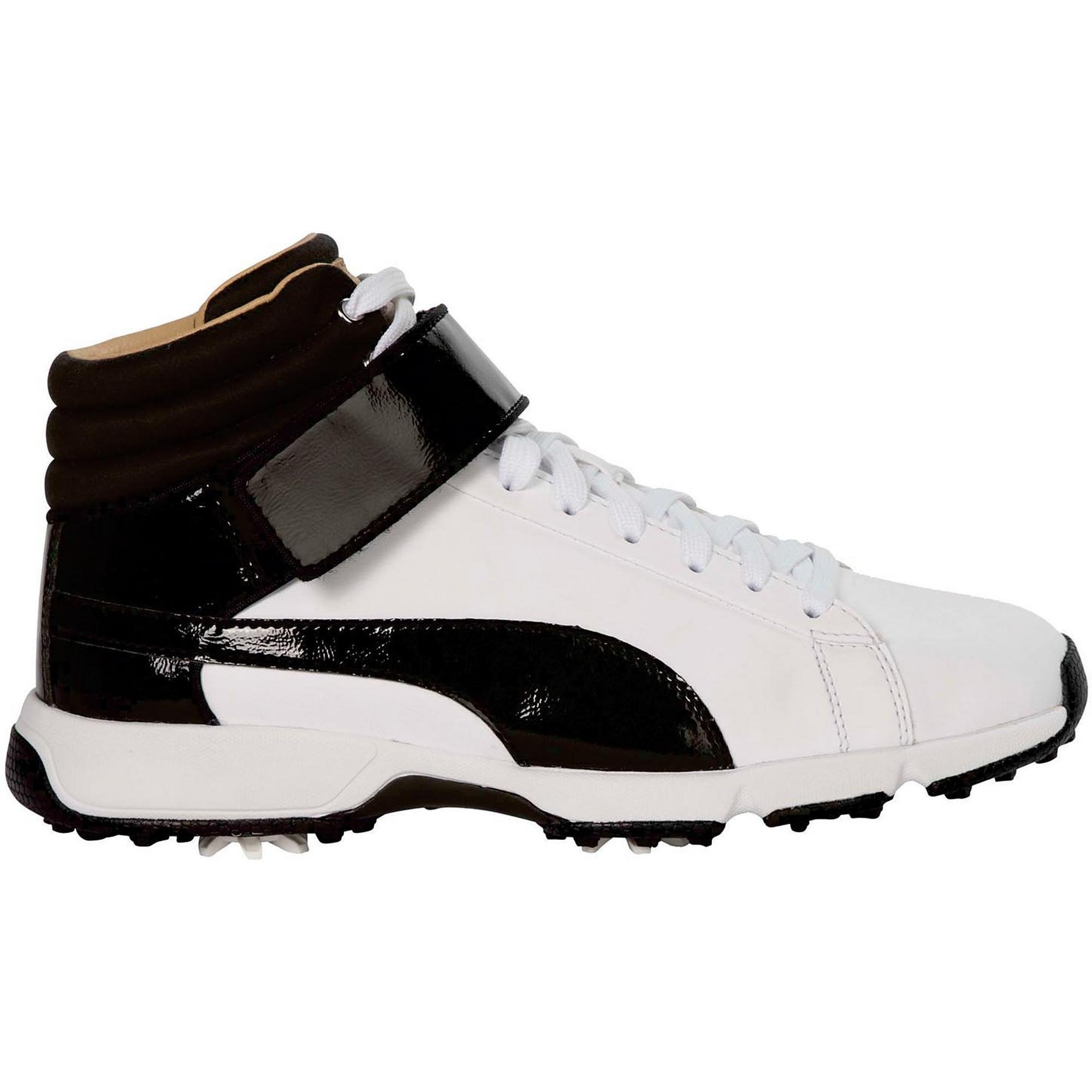 Junior Titantour Hi-Top Spiked Golf Shoe - Wht/Blk
