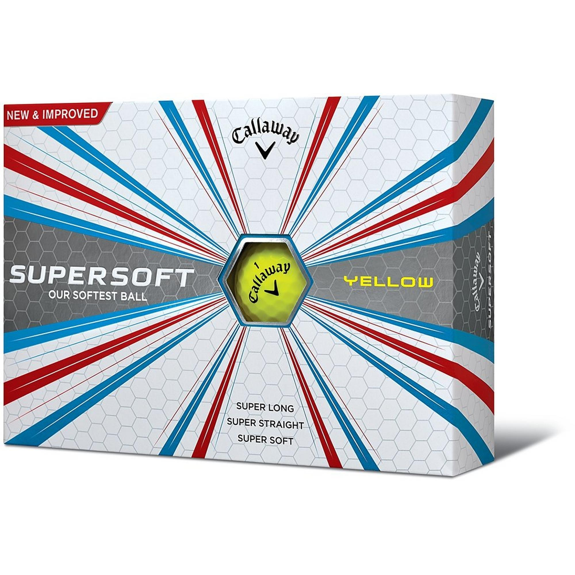 2017 Supersoft Yellow Golf Balls