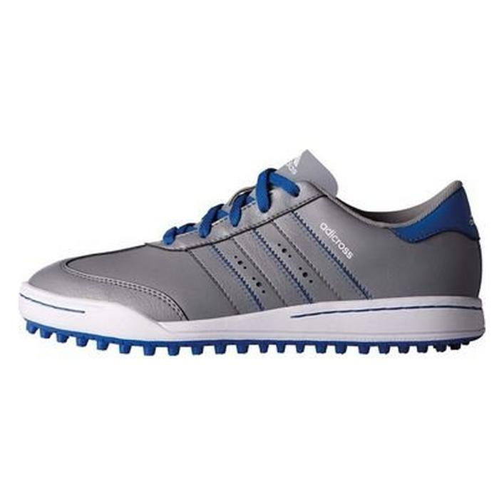 Junior Adicross V Spikeless Golf Shoe - Grey/Blue
