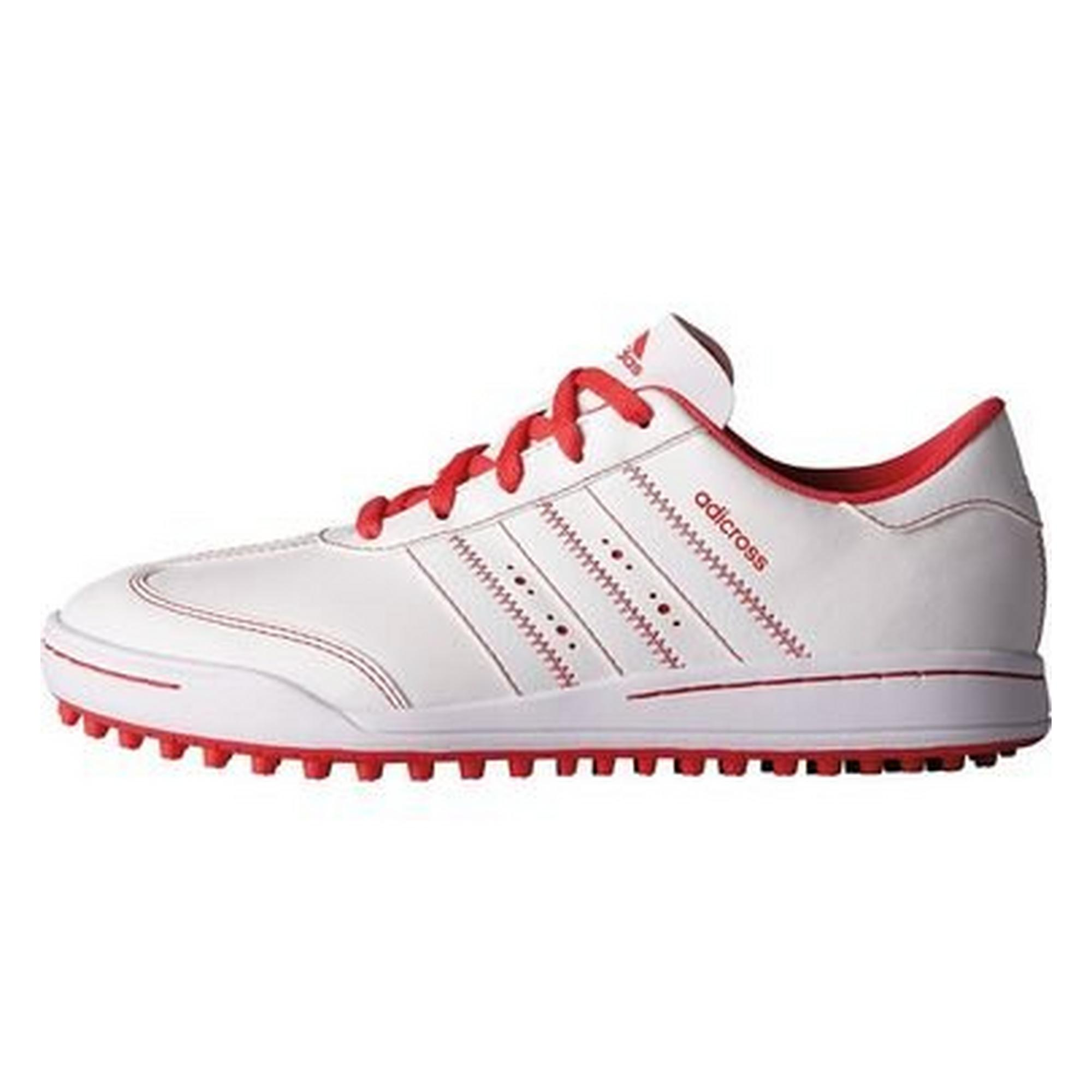 Junior Adicross V Spikeless Golf Shoe - White/Pink