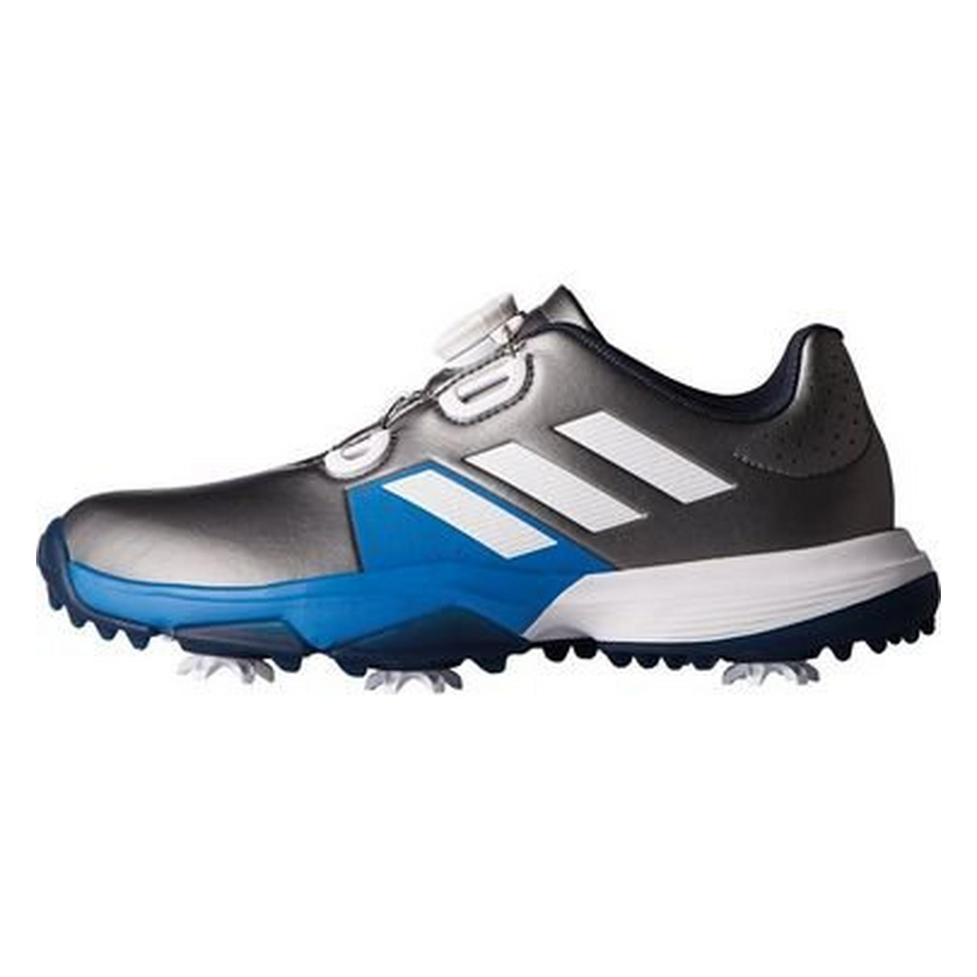 b0d09523a785f Junior Adipower Boa Spiked Golf Shoe - Silver Blue