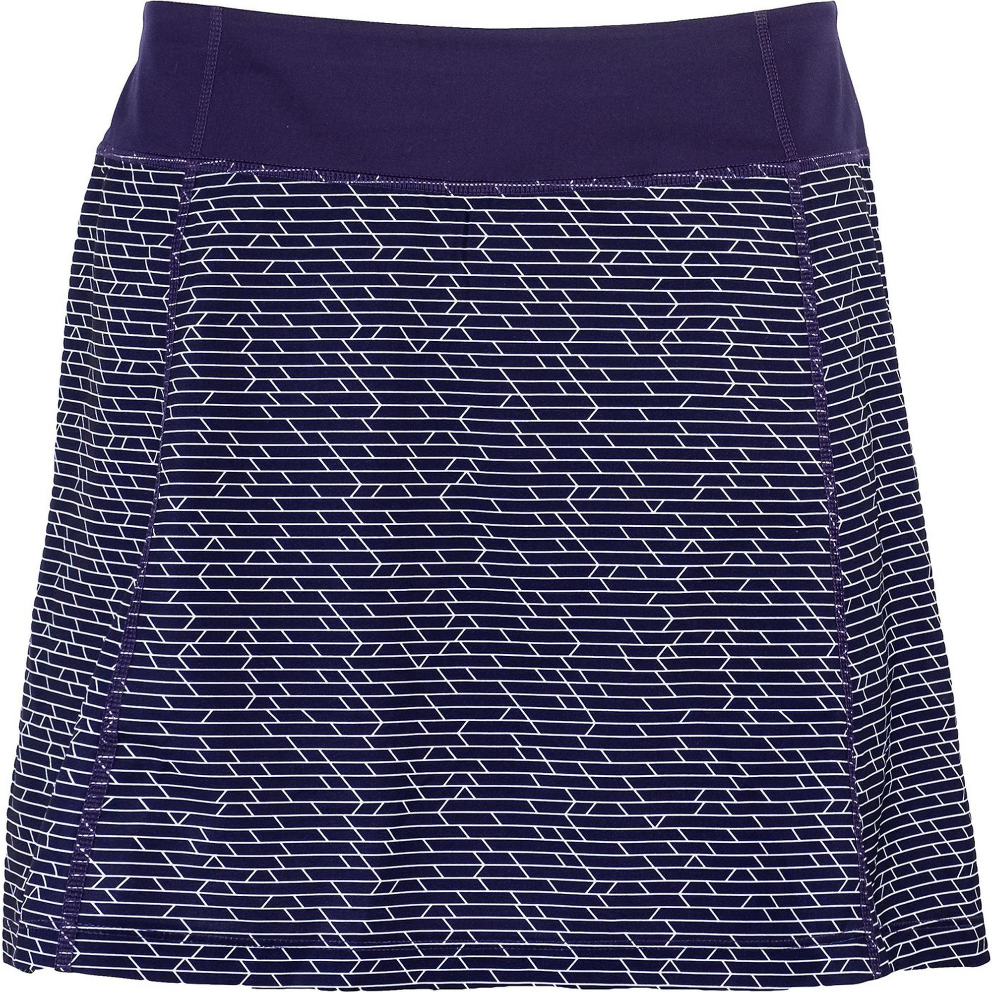 Women's Printed Knit Woven Fashion Skort