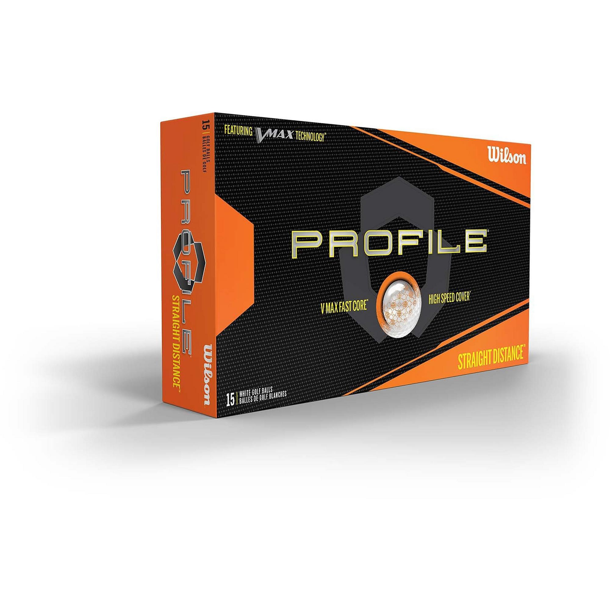 Profile V-Max 15pk White Golf Balls