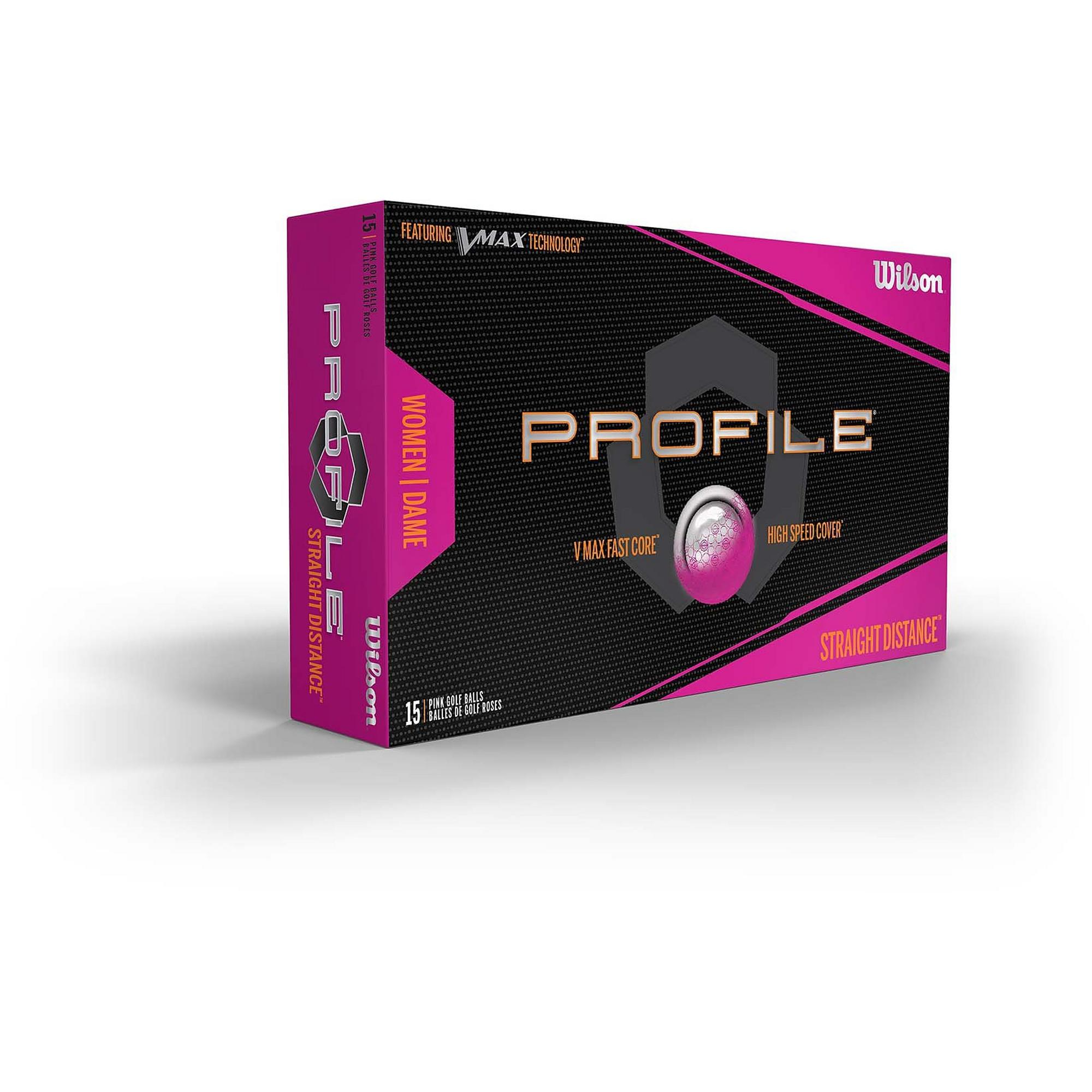 Women's Profile V-Max 15pk Pink Golf Balls