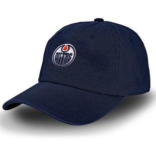 Men's Racing Stripe Edmonton Oilers Cap