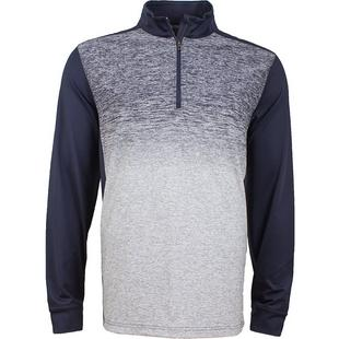 Men's Fashion Heathered Quarter-Zip Sweater