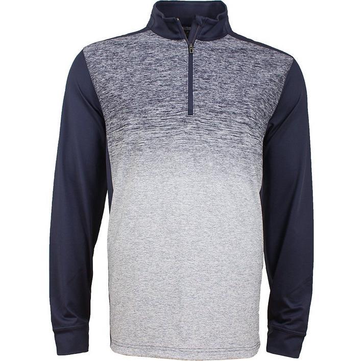 Men's Fashion Heathered Quarter-Zip Sweater