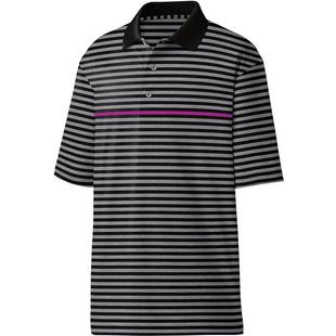 Men's Pique Striped Short Sleeve Polo
