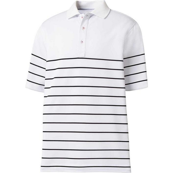 Men's Engineered Stripe Short Sleeve Polo