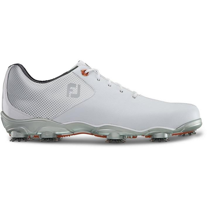 Men's DNA Helix Spiked Golf Shoe - White/Silver