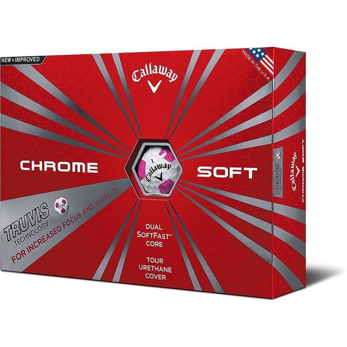 Balles Chrome Sort Truvis, 12 balles - Rose