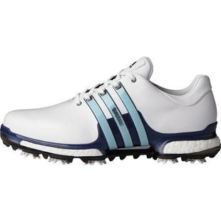 Men's Tour360 2.0 Boost Spiked Golf Shoe - White/Blue