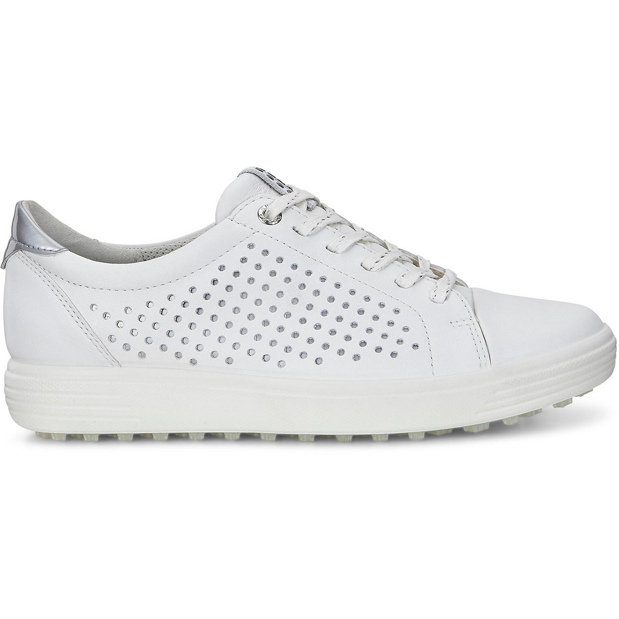 357ff207c6e Women's Casual Hybrid 2 Perf Spikeless Shoe - White/Silver   ECCO   Golf  Town Limited