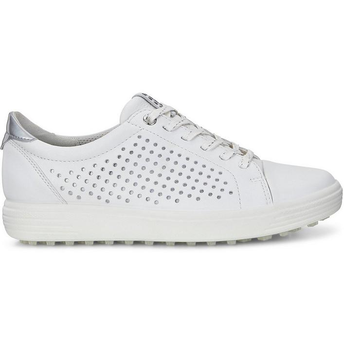 Women's Casual Hybrid 2 Perf Spikeless Shoe - White/Silver