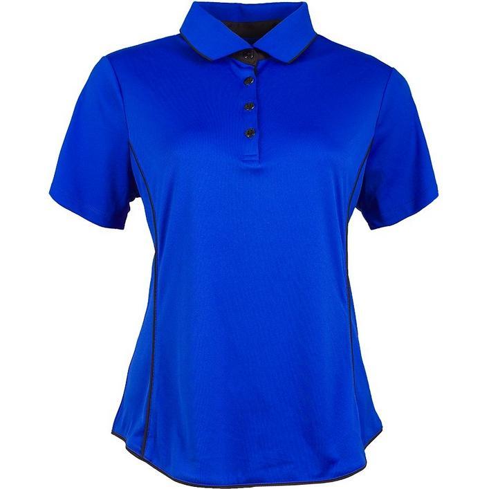 Women's Colour Block Rib Short Sleeve Polo