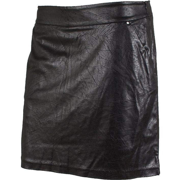 Women's Distressed Faux Leather Skort