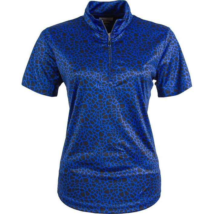 Women's Mock Neck Short Sleeve Polo