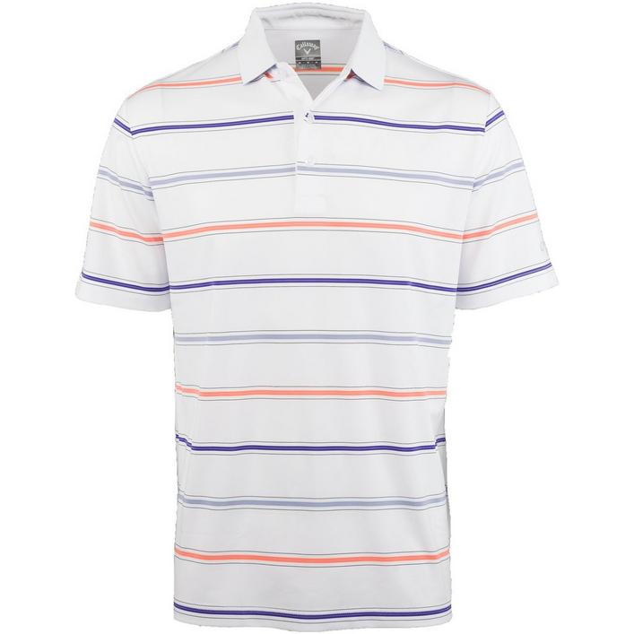 Men's Yarn Dyed Stretch Roadmap Short Sleeve Polo