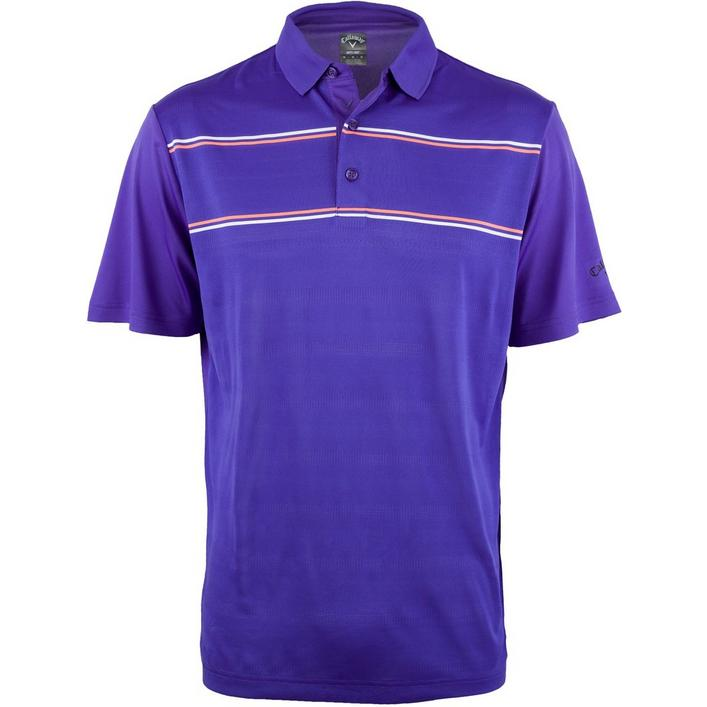 Men's Yarn Dyed Engineered Ventilated Short Sleeve Polo