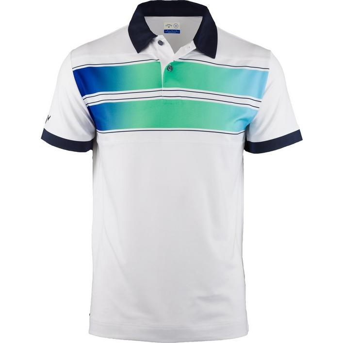 Men's Ombre Chest Print X Short Sleeve Polo